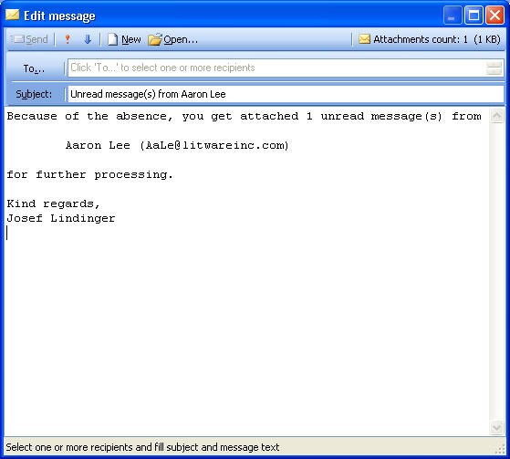 seliSoft - OOF-Admin - Forward unread Messages / Send Out of Office ...